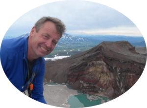 Sascha auf Gorelij-Vulkan Kamtschatka